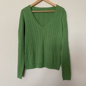 Linen cable knit sweater